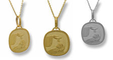 Picture of Cushion Shape Baptism Medal
